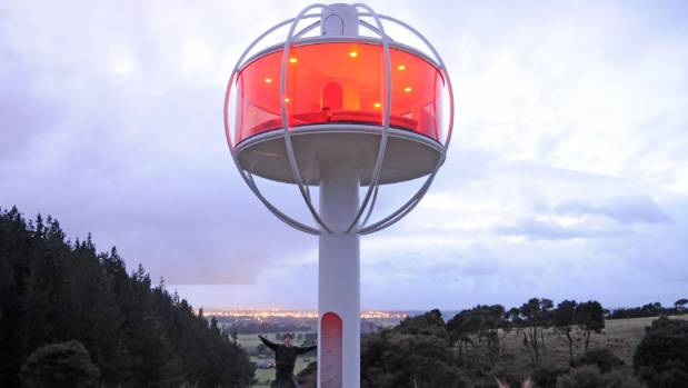 Jono Williams' Skysphere is app-controlled and solar-powered.