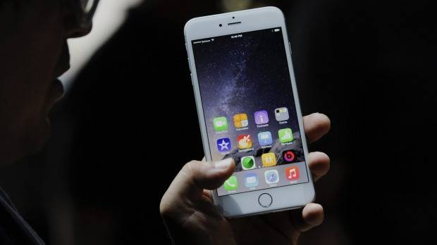 Apple iPhone 6 Plus in action.