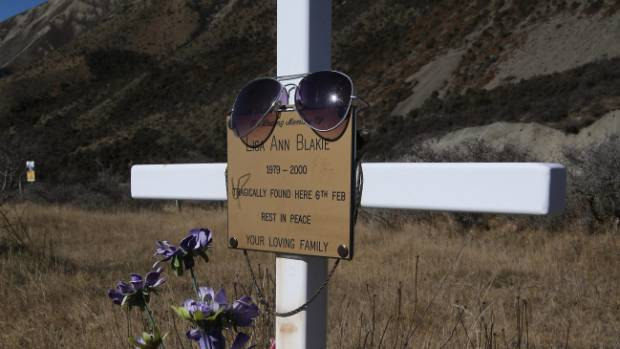 The memorial at Porters Pass for Lisa Blakie.