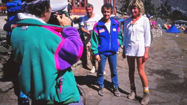 1988 - Lydia and Marc Batard, after climbing Everest.