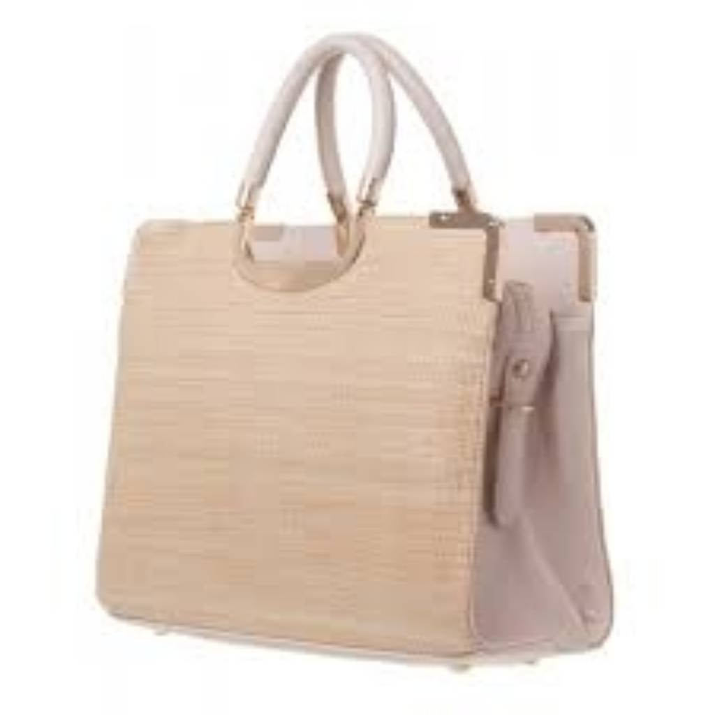 For A Tote That Means Business This Metal Handle Structured By Colette Hayman Would Add