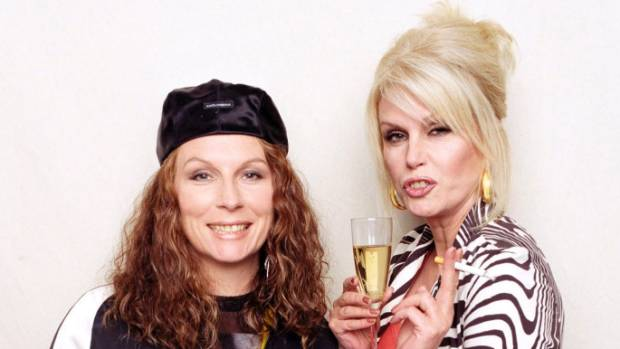 "Actresses Jennifer Saunders (L) and Joanna Lumley, stars of the hit British comedy ""Absolutely Fabulous"" are to reprise ..."
