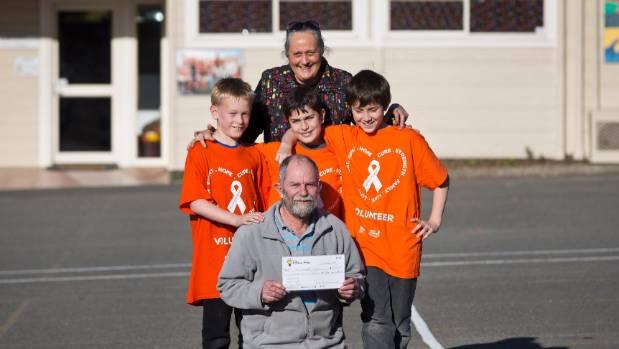 Hampden Street School trio Charlie Hobbs, 10, left, Ben Palmer, 10 and Will Irvine, 10, have raised $500 for the Nelson ...