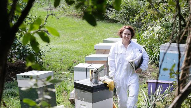 Sharon Mackie has been beekeeping for three years.