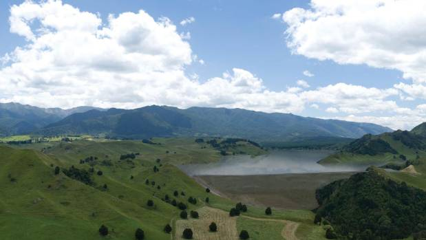 An artist's impression of the proposed Ruataniwha Dam.
