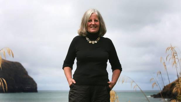 Author Fiona Farrell at her home in Long Bay on Banks Peninsula.