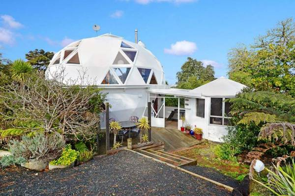 The dome house in Paremoremo, Auckland, was home to the late Twink McCabe for around 30 years and is now up for sale.