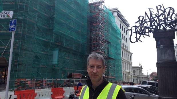 Ralph Roberts of Warren & Mahoney outside the nearly renovated Old Public Trust building in Stout St