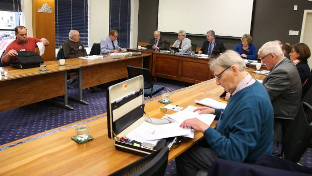 Southland District Council Te Anau Wastewater Discharge Project Committee members during a meeting on Tuesday.