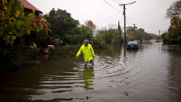The Christchurch City Council hopes a $26.2m flood mitigation plan will help avoid scenes like this in Flockton Basin.