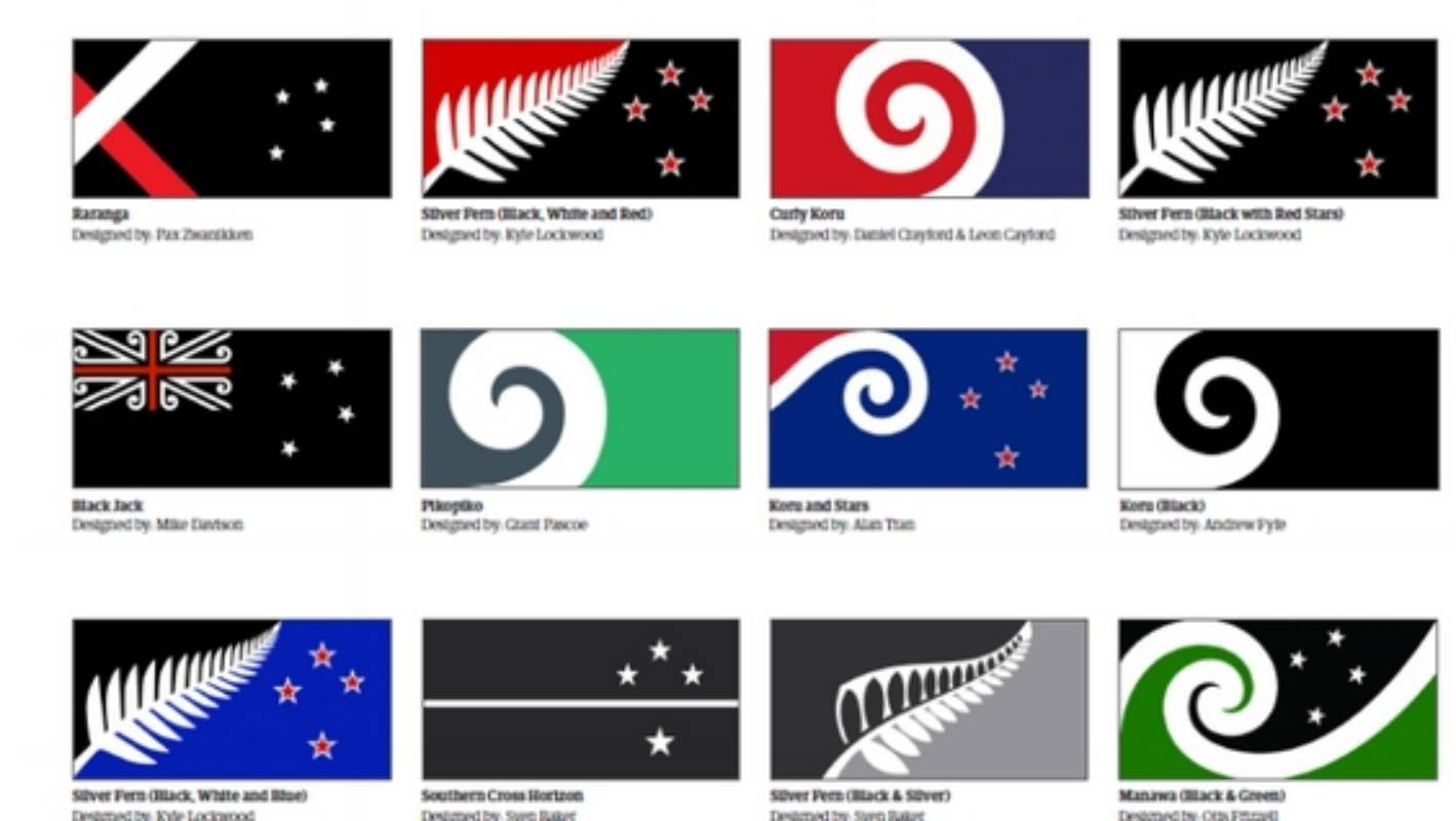 A list of 40 possible alternative flags, chosen from 10,000