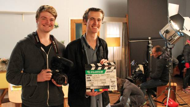 AUT student Charles Johnson and Western Springs College student Zac Johnson are getting look behind the scenes.