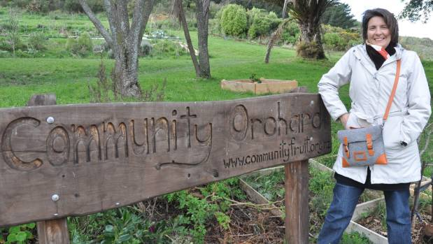 Island Bay and Berhampore Community Orchard Trust chairwoman Bronwen Newton at the orchard where the trust hopes to keep ...