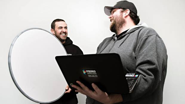 From left, Primo Wireless' Jason Holton✓ and Matt Harrison✓ are enjoying the bigger Molesworth St office space the ...
