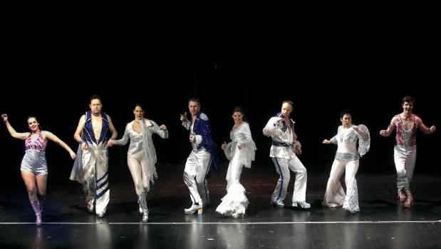 At a Mamma Mia! rehearsal, from left, Alexia Clark, Steve Jenkins, Amy Hunt, Gary Clark, Val Andrew, Ben Jones, Katte ...