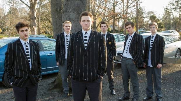 Students at Christ's College want the school to let them park in a nearby empty lot. Left to right: Phillipo Georgiou, ...