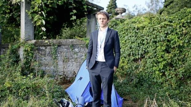 Kiwi David Hyde who lived in a tent during his UN internship admitted it was a publicity stunt.