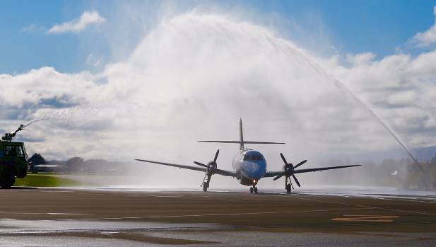 Originair's first flight from Nelson to Palmerston North lands on Wednesday morning.