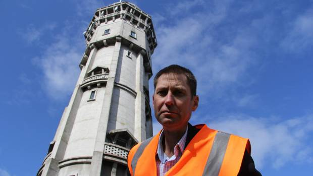 South Taranaki District Council engineering services group manager Brent Manning at the Hawera Water Tower grounds.