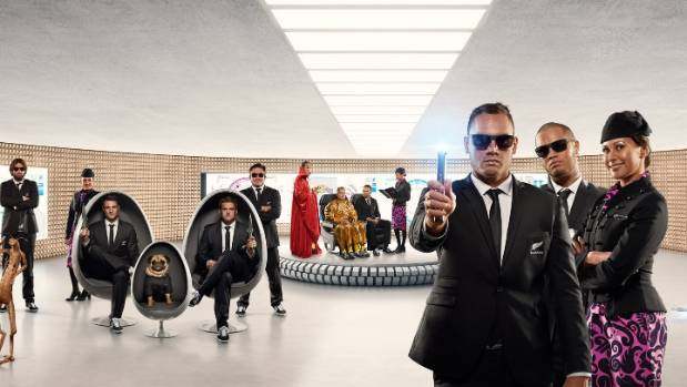 All Blacks stars channel their inner secret agents in Air New Zealand's new safety video.
