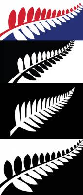 Variations on a theme - four of the 40 possible flag designs.