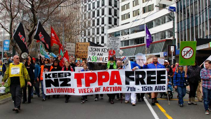 Thousands March Against Tpp Trade Agreement Stuff