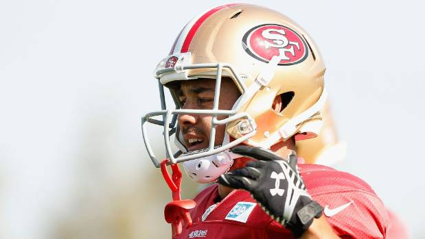 Jarryd Hayne was mistakenly labelled a New Zealander by the San Francisco 49ers' official Twitter feed.