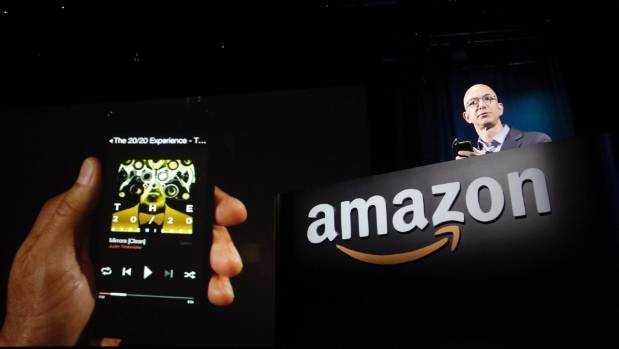 Amazon CEO Jeff Bezos shows. The company is planning expansion into Australia.