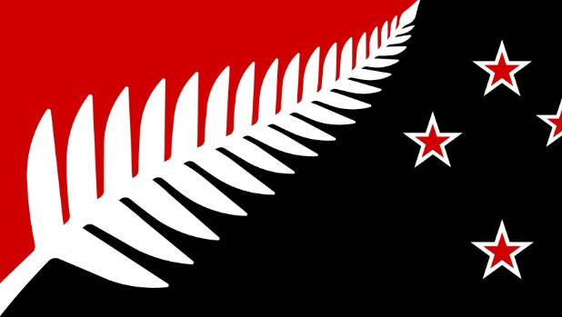 Silver Fern (Black, White & Red) by Kyle Lockwood is the most popular flag so far.
