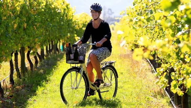 Enjoy a wine tour by bike.