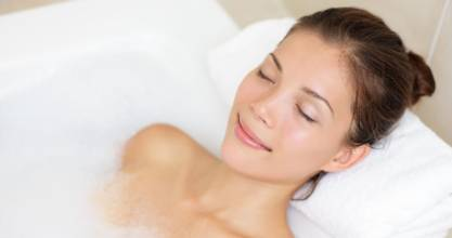 You just can't beat a nice long bath. But would you take one in the morning?