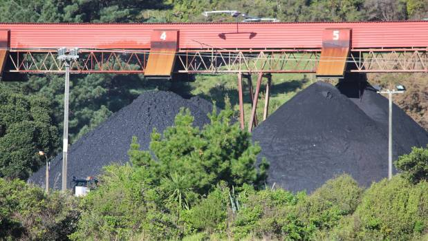 Solid Energy's coal-handling facility at Ngakawau, north of Westport, which services Stockton Mine.