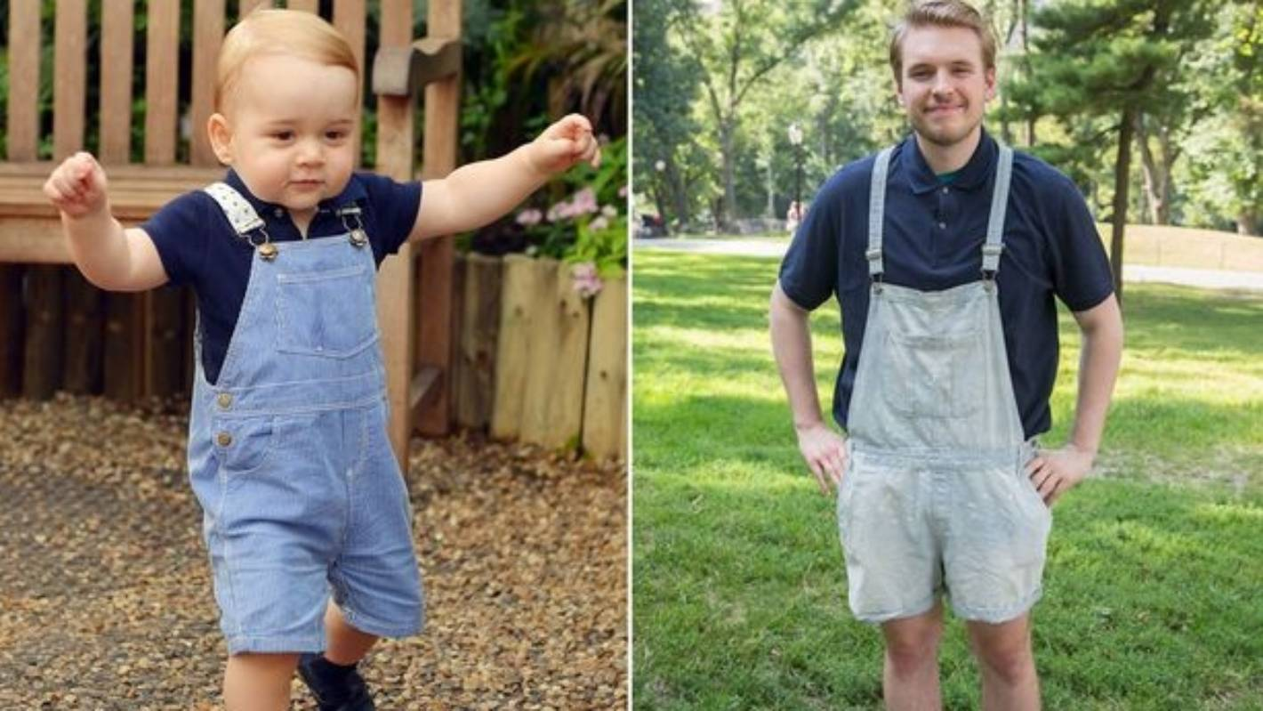 This 23 Year Old Man Dressed As 2 Year Old Prince George