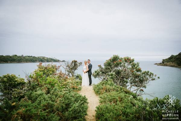 Waiheke Island made a stunning backdrop to Bekah and Tom's big day.