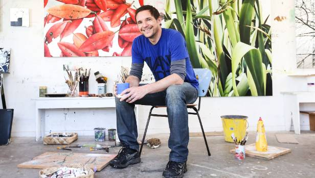 Artist Neal Palmer in his Auckland studio