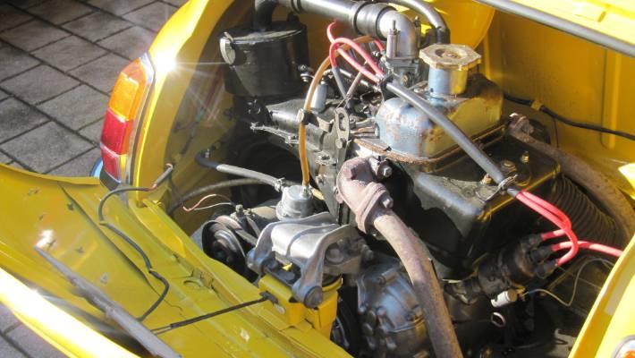 The 500cc Motor Of The1968 Fiat Bambina