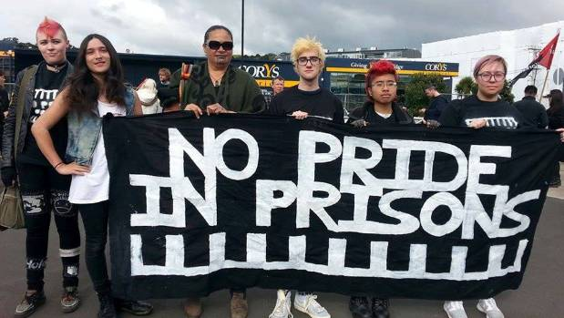 Members of the group No Pride in Prison.