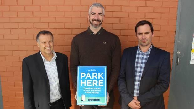 Parkable co-founders Warwick Beauchamp, Brody Nelson and Toby Litton hope they have found a solution to Auckland's ...