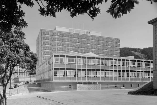 A brand new Broadcasting House in the 1960s.