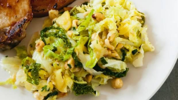 Recipe savoy cabbage with apples roasted hazelnuts stuff next food wine story forumfinder Choice Image