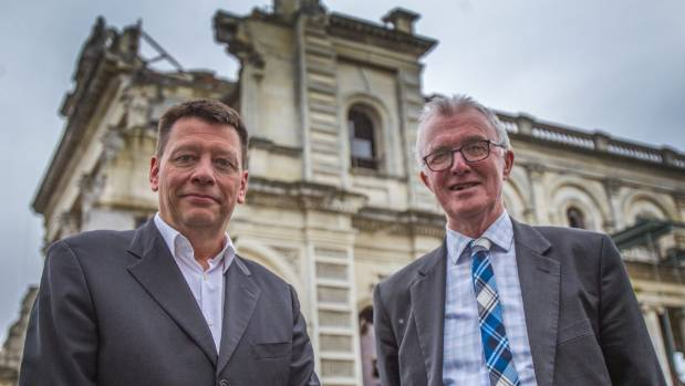Property and development manager for the Diocese Keith Beal, left, and diocesan financial administrator Paddy Beban are ...
