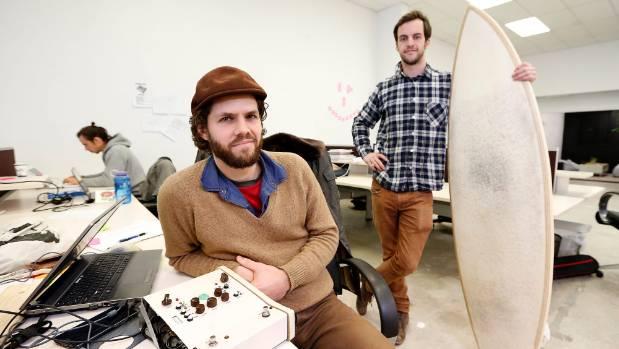 Dogmatek audio owner Tim Prebble, left, and Jack Candlish from Organic Dynamic.