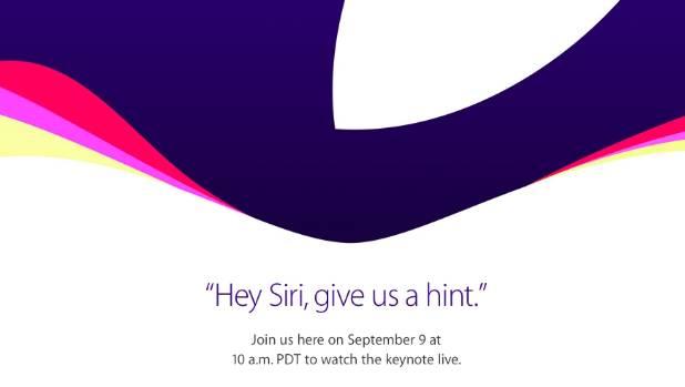 The invite Apple's annual September event.