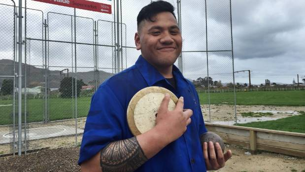 St Patrick's College student Nathaniel Sulupo at Sola Power Throwing Academy. Sulupo represented Samoa at the ...