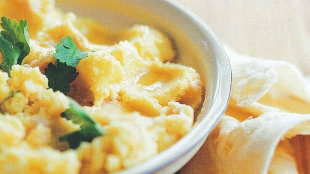 Recipe saffron potato smoked roe mash with flatbread stuff next food wine story forumfinder Choice Image
