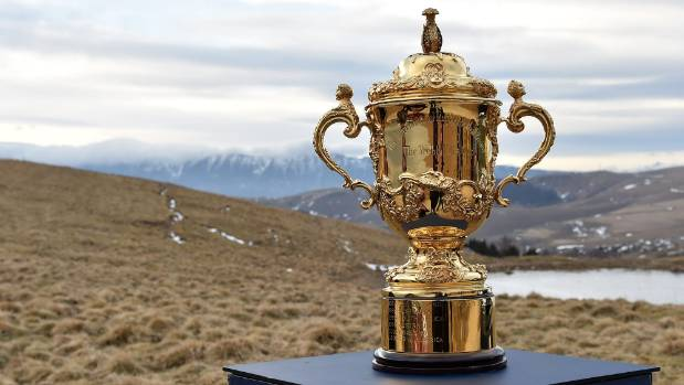 AT STAKE: The Webb Ellis Cup is the prize for the winner of the Rugby World Cup tournament.