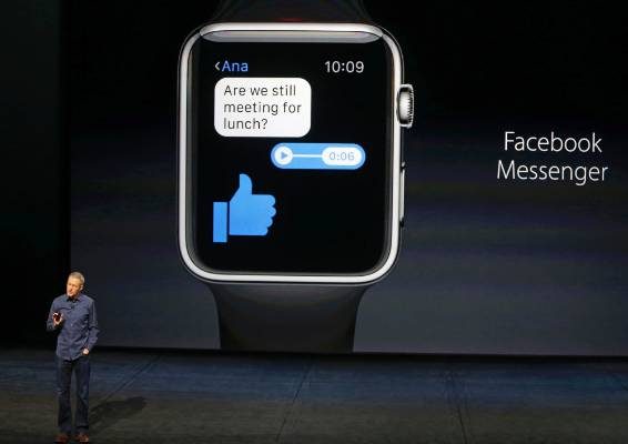 Facebook Messenger is coming to the Apple Watch.