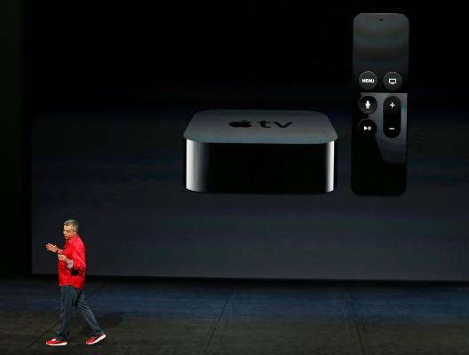 The new Apple TV device.