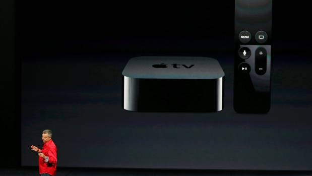 Apple's Eddie Cue takes the stage to discuss Apple TV.
