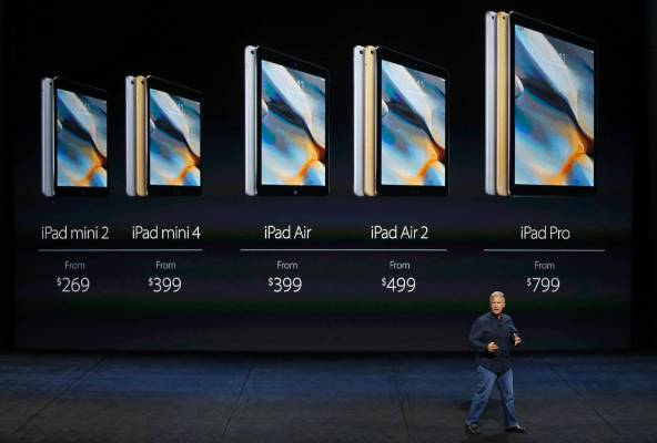 The full iPad Air range including the Pro model.